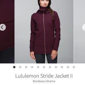 Lululemon Stride Jacket II Bordeaux Drama Size 6